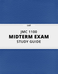 JMC 1100- Midterm Exam Guide - Comprehensive Notes for the exam ( 45 pages long!)