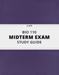 BIO 110- Midterm Exam Guide - Comprehensive Notes for the exam ( 44 pages long!)
