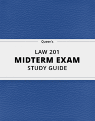LAW 201- Midterm Exam Guide - Comprehensive Notes for the exam ( 34 pages long!)