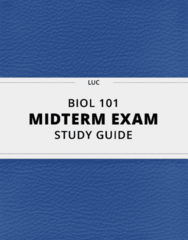 BIOL 101- Midterm Exam Guide - Comprehensive Notes for the exam ( 51 pages long!)