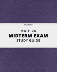 MATH 2A- Midterm Exam Guide - Comprehensive Notes for the exam ( 51 pages long!)