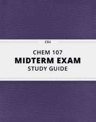 CHEM 107- Midterm Exam Guide - Comprehensive Notes for the exam ( 13 pages long!)