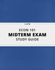 ECON 101- Midterm Exam Guide - Comprehensive Notes for the exam ( 13 pages long!)