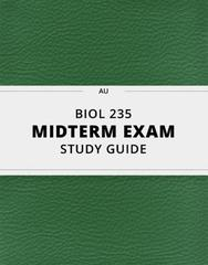 BIOL 235- Midterm Exam Guide - Comprehensive Notes for the exam ( 387 pages long!)