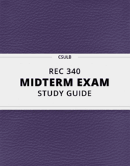 REC 340- Midterm Exam Guide - Comprehensive Notes for the exam ( 62 pages long!)