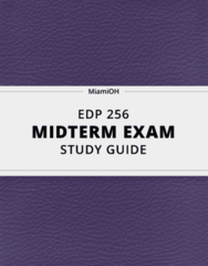 EDP 256- Midterm Exam Guide - Comprehensive Notes for the exam ( 16 pages long!)