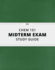 CHEM 151- Midterm Exam Guide - Comprehensive Notes for the exam ( 19 pages long!)