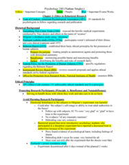 PSY 240 Chapter Notes - Chapter 3: Health Insurance Portability And Accountability Act, Institutional Review Board, American Psychological Association