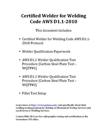 CATE 5341 Chapter 5: 05-Welder certification - OneClass