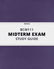 BCM111- Midterm Exam Guide - Comprehensive Notes for the exam ( 24 pages long!)