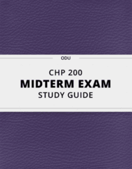 CHP 200- Midterm Exam Guide - Comprehensive Notes for the exam ( 15 pages long!)