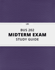 BUS 202- Midterm Exam Guide - Comprehensive Notes for the exam ( 220 pages long!)
