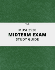 MUSI 2520- Midterm Exam Guide - Comprehensive Notes for the exam ( 30 pages long!)