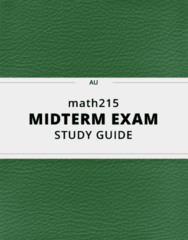 math215- Midterm Exam Guide - Comprehensive Notes for the exam ( 28 pages long!)