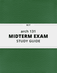 arch 131- Midterm Exam Guide - Comprehensive Notes for the exam ( 109 pages long!)