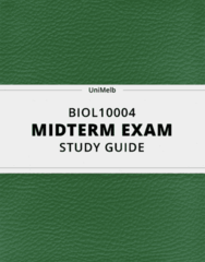 BIOL10004- Midterm Exam Guide - Comprehensive Notes for the exam ( 26 pages long!)