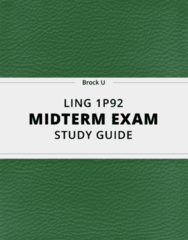 LING 1P92- Midterm Exam Guide - Comprehensive Notes for the exam ( 89 pages long!)