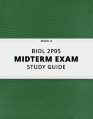BIOL 2P05- Midterm Exam Guide - Comprehensive Notes for the exam ( 46 pages long!)