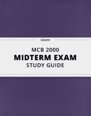 MCB 2000- Midterm Exam Guide - Comprehensive Notes for the exam ( 37 pages long!)