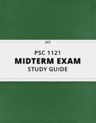 PSC 1121- Midterm Exam Guide - Comprehensive Notes for the exam ( 41 pages long!)