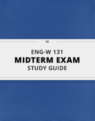 ENG-W 131- Midterm Exam Guide - Comprehensive Notes for the exam ( 22 pages long!)