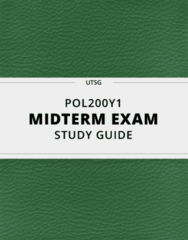 POL200Y1- Midterm Exam Guide - Comprehensive Notes for the exam ( 16 pages long!)