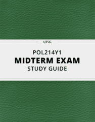 POL214Y1- Midterm Exam Guide - Comprehensive Notes for the exam ( 74 pages long!)