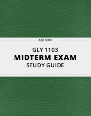 GLY 1103- Midterm Exam Guide - Comprehensive Notes for the exam ( 13 pages long!)