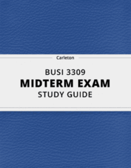 BUSI 3309- Midterm Exam Guide - Comprehensive Notes for the exam ( 46 pages long!)