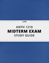 ANTH 1210- Midterm Exam Guide - Comprehensive Notes for the exam ( 443 pages long!)