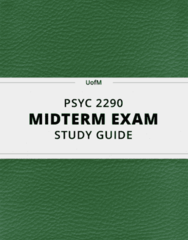 PSYC 2290- Midterm Exam Guide - Comprehensive Notes for the exam ( 89 pages long!)