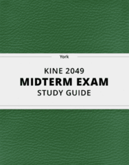 KINE 2049- Midterm Exam Guide - Comprehensive Notes for the exam ( 41 pages long!)
