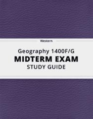 Geography 1400F/G- Midterm Exam Guide - Comprehensive Notes for the exam ( 38 pages long!)