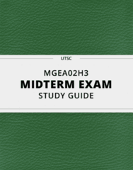 MGEA02H3- Midterm Exam Guide - Comprehensive Notes for the exam ( 17 pages long!)