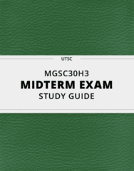 MGSC30H3- Midterm Exam Guide - Comprehensive Notes for the exam ( 77 pages long!)