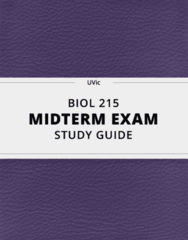 BIOL 215- Midterm Exam Guide - Comprehensive Notes for the exam ( 19 pages long!)