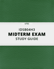 IDSB04H3- Midterm Exam Guide - Comprehensive Notes for the exam ( 64 pages long!)