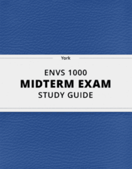 ENVS 1000- Midterm Exam Guide - Comprehensive Notes for the exam ( 39 pages long!)
