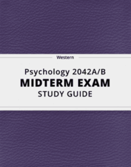 Psychology 2042A/B- Midterm Exam Guide - Comprehensive Notes for the exam ( 25 pages long!)