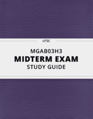 MGAB03H3- Midterm Exam Guide - Comprehensive Notes for the exam ( 36 pages long!)