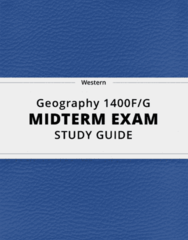 Geography 1400F/G- Midterm Exam Guide - Comprehensive Notes for the exam ( 58 pages long!)