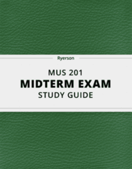 MUS 201- Midterm Exam Guide - Comprehensive Notes for the exam ( 24 pages long!)