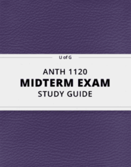 ANTH 1120- Midterm Exam Guide - Comprehensive Notes for the exam ( 55 pages long!)