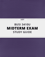 BUSI 3410U- Midterm Exam Guide - Comprehensive Notes for the exam ( 44 pages long!)