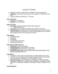 GLGY 307 Lecture Notes - Lecture 2: Permafrost, Vertebrate Paleontology, Permineralization