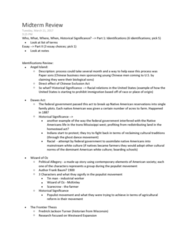 HIST206 Study Guide - Midterm Guide: Serfdom, Indian Removal Act, Melting Pot