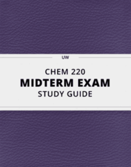 CHEM 220- Midterm Exam Guide - Comprehensive Notes for the exam ( 96 pages long!)