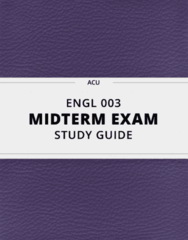 ENGL 003- Midterm Exam Guide - Comprehensive Notes for the exam ( 26 pages long!)