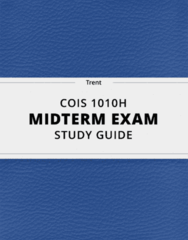 COIS 1010H- Midterm Exam Guide - Comprehensive Notes for the exam ( 19 pages long!)