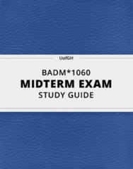 BADM*1060- Midterm Exam Guide - Comprehensive Notes for the exam ( 13 pages long!)